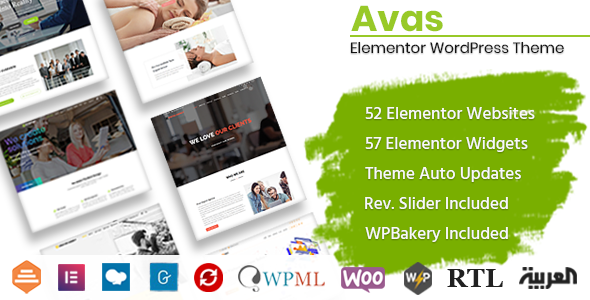Avas Elementor WordPress Theme
